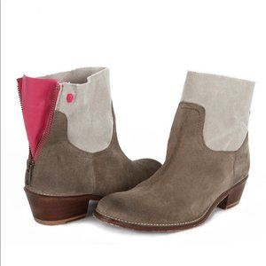 Zadig & Voltaire Teddy Suede Ankle Boots Size 38